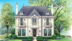 Country French House Plans Louisiana French Style House Plans Plan Upstairs Three Ways French House French Style House Plans One Story French Style House Plans Narrow Lot House Plans, House Floor Plans, Narrow House, Luxury Floor Plans, Casas The Sims 4, French Country Style, French Style House, House Goals, Beautiful Homes