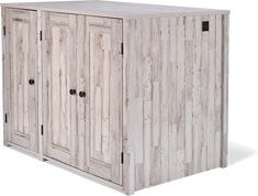 Litter Box Farmhouse Style Credenza | Litter-Robot Cat Furniture, Furniture For You, Hidden Litter Boxes, Litter Robot, Rustic White, Modern Farmhouse Style, Credenza, Plank, Living Spaces