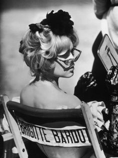 "Actress, Brigitte Bardot, While Making the Film ""Lady and the Puppet""  by Loomis Dean POSTER $99.99"