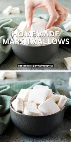 Recipes With Marshmallows, Homemade Marshmallows, Homemade Marshmellow Recipes, How To Make Marshmallows, Homemade Sweets, Köstliche Desserts, Sweet Recipes, Easy To Make Recipes, Simple Cooking Recipes