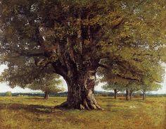 The Oak of Flagey (The Oak of Vercingetorix) - Gustave Courbet