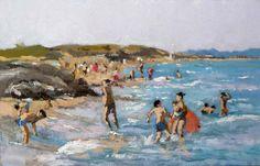 Atardecer en la playa de Guardamar del Segura, Alicante.
