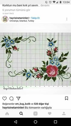 This Pin was discovered by ilk Embroidery Stitches, Hand Embroidery, Embroidery Designs, Cross Stitch Designs, Cross Stitch Patterns, Sewing Projects, Projects To Try, Diy And Crafts, Arts And Crafts