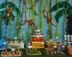 Zukate E's Birthday / Welcome to Santino´s jungle - Photo Gallery at Catch My Party Safari Theme Party, Jungle Party, Party Themes, Party Ideas, Theme Ideas, Gone Fishing, Baby Boy Shower, Baby Showers, Photo Galleries