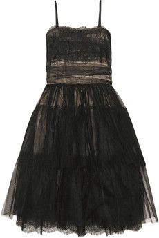 RED Valentino  Lace-trimmed tulle dress