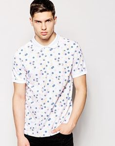 Farah Polo Shirt with All Over Dot Print