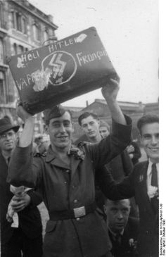 French SS volunteer proclaims his allegiance to Hitler. The 33rd Waffen Grenadier Division of the SS Charlemagne (1st French) and Charlemagne Regiment were collective names used for units of French volunteers in the Wehrmacht and later Waffen-SS.The French were the last German unit to fight the Russians in a pitched battle around Hitler's chancellery.