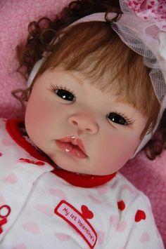 Reborn Doll Baby Girl Shyann by Aleina Peterson German Lauscha Glass Eyes | eBay