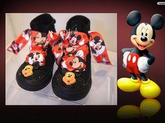 Mickey children shoes / Disney converse / black by CindersWish