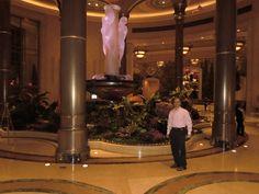Enjoying the beautiful lobby of Palazzo Las Vegas Resort Hotel and Casino