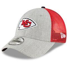 watch 4da0b f4469 Men s Kansas City Chiefs New Era Heathered Gray Red Turn 9FORTY Adjustable  Snapback Hat