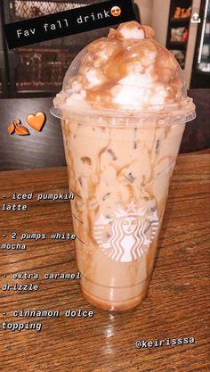 Cold Starbucks Drinks, Healthy Starbucks, Starbucks Secret Menu Drinks, Coffee Drink Recipes, Coffee Drinks, Frappuccino Recipe, Cocktails, Fun Baking Recipes, Smoothie Drinks