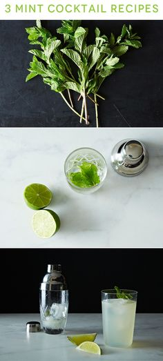 Mint-infused summer cocktails.