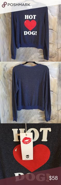Wildfox Pullover Brand new! Loose-fitting. Super soft and cozy material: 47% polyester 47% cotton 6% spandex. Offers welcome :) Wildfox Sweaters Crew & Scoop Necks