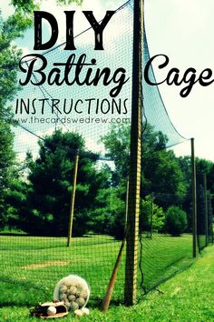 Learn how to build a batting cage on your property with this two part step by step tutorial! baseball How to Build a Batting Cage Baseball Tips, Baseball Crafts, Baseball Mom, Baseball Field, Baseball Shoes, Baseball Stuff, Baseball Jackets, Travel Baseball, Gardens