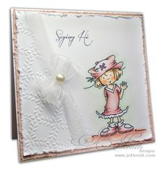 JUST A LITTLE HELLO-MADDIE-- A new Sassy Cheryl image! what a great card!