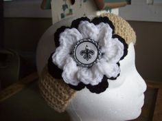 New Orleans Saints Inspired Ear by cornfieldcanary on Etsy, $10.00