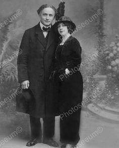 Harry & Beatrice Houdini Portrait 1920s 8x10 Reprint Of Old Photo