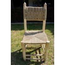 Καρέκλα ψάθινη χειροποίητη απο ξύλο λεμονιάς 98x40