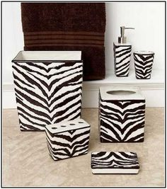 Etonnant Zebra Print Bathroom Accessories