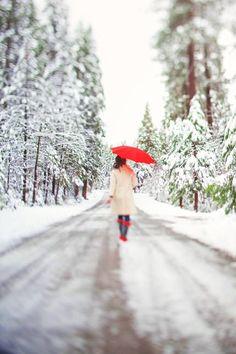 Snowy lane way