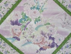 Pastel Floral Wall Hanging or Table Topper by PicketFenceFabric, $24.95