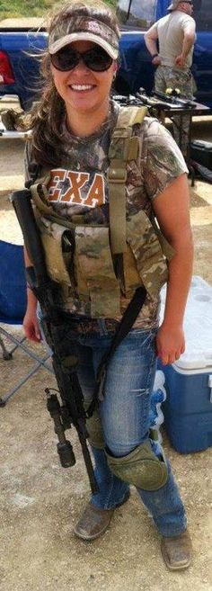 Tactical Texas Woman.... I love it when they wear clothes and tactical gear.