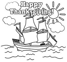 Thanksgiving Indian Coloring Page. | Coloring Book | Pinterest ...