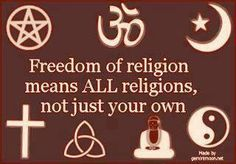 "This is a very important concept. Some fundamentalists on the right seem to think ""religious freedom"" means the right to impose their own religion on their fellow citizens, even if they have to do it with legislation. Religions Du Monde, World Religions, Wabi Sabi, Freedom Of Religion, Freedom Art, Freedom Quotes, Peace Quotes, Spiritual Quotes, In This World"