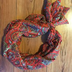 Pre tied handmade scarf Triple braided handmade scarf   Multi colored paisley print. Slip on. New. Accessories Scarves & Wraps