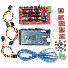 RAMPS 1.4 + Mega2560 + 5xA4988 Controlador Kit de Impressora 3D para Arduino Reprap