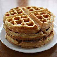Art of Dessert: Best Vegan Waffles Ever. Super delicious! I did find that these stuck to my waffle iron a lot, even though my waffle maker usually doesn't have that problem. I would add some more fat to the batter or grease the iron next time.