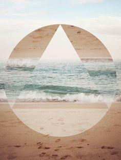 Square, triangle, circle... Love the sea.