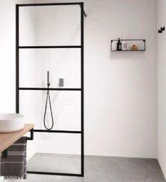 Sealskin Soho inloopdouche 90cm, profielen mat zwart, helder glas