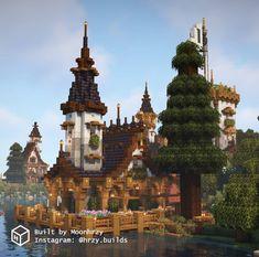 Minecraft Mansion, Minecraft Cottage, Minecraft Castle, Minecraft Medieval, Cute Minecraft Houses, Minecraft Plans, Minecraft House Designs, Minecraft Tutorial, Minecraft Blueprints