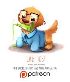 Daily Paint 1460. Lab Test by Cryptid-Creations.deviantart.com on @DeviantArt
