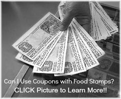 Can I Use Coupons with Food Stamps?! Learn more --> http://www.supercouponlady.com/2013/07/couponing-101-can-i-use-coupons-with-food-stamps.html/