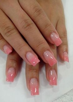 40 Looks Valentine Nail Art Design This Year 28 Pink Tip Nails, French Tip Nails, Fancy Nails, Cute Nails, Pretty Nails, Nail Art Designs, French Nail Designs, Elegant Nails, Stylish Nails