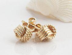 Kolczyki złote węzły - złoto 585