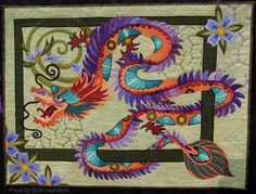 The Quilt with the Dragon Tattoo by Nancy Arsenault.  2014 TQG, photo by Quilt Inspiration