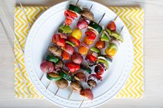 Grilled Veggie Kabobs- This marinade is AMAZING!!!!