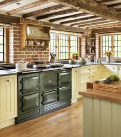 and this......the green Aga in the Smallbone Pilaster kitchen...so I don't really want too much. Right?