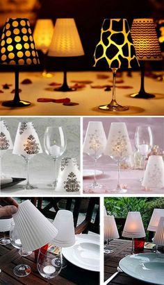 Wine Glass Lampshades Tutorial