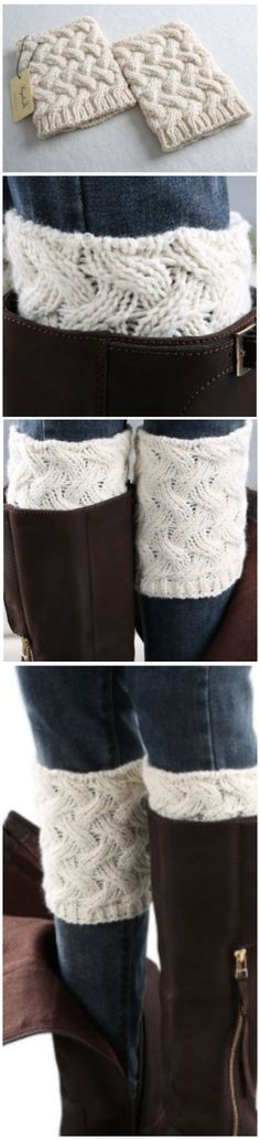 Cable Knit Boot Cuffs- EVERYONE needs some cute boot cuffs to wear with their boots all fall! Am I right?! We just love these ones. {aff}