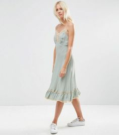 ASOS Premium Cami Dress With Lace Inserts
