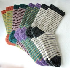 KNITTING PATTERN / Bywater Adult/Teen Socks / knit sock pattern / striped sock pattern / Striped Adult Socks / Women socks / Men socks - Lilly is Love Patterned Socks, Striped Socks, Knitting Patterns, Crochet Patterns, Knitting Projects, Knitting Tutorials, Stitch Patterns, Unisex Clothes, Unisex Outfits
