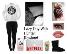 """Lazy Day With Hunter Rowland"" by magcon-fangirl-7 ❤ liked on Polyvore featuring Pieces, UGG Australia, Casetify and Lime Crime"