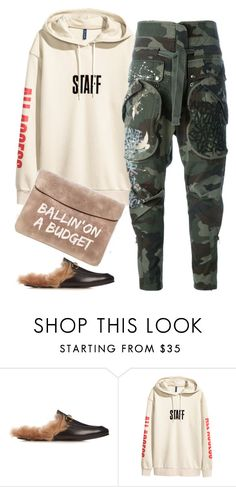 """""""Untitled #6530"""" by stylistbyair ❤ liked on Polyvore featuring Gucci and Faith Connexion"""