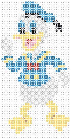 Donald Duck Perler Bead pattern