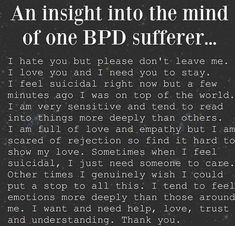 An Insight Into Living With Borderline Personality Disorder.Instead of Judging those With Mental Illness.Let's try to understand, help kill the stigma, and raise Awareness! Boarderline Personality Disorder, Borderline Personality Disorder Quotes, Personality Quotes, Bpd Quotes, Bipolar Quotes, Bipolar Help, Bipolar Art, Victim Quotes, Anxiety Quotes